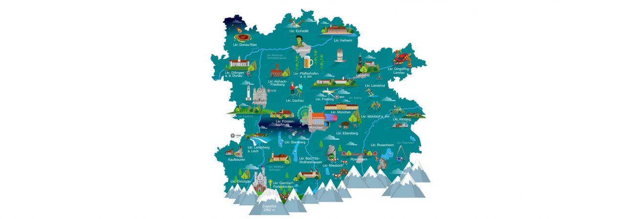 Symbolkarte Metropolregion